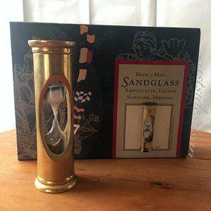 ⏳NIB BRASS Hourglass Sand Timer - carpe diem!